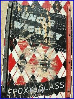 Vintage 1980s Uncle Wiggley Argyle Skateboard Epoxyglass Deck