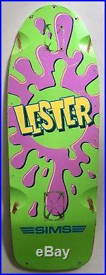 Vintage 1983-84 Sims Lester Kasai Pro Model Splat Skateboard Deck Rare OG