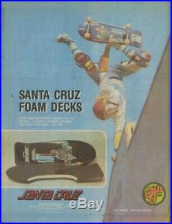 Vintage 1984 / 1986 Santa Cruz Skateboards Airtech Foam Slasher Grosso Kendall