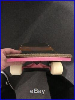 Vintage 1986 Schmitt Stix John Lucerro Complete Skateboard Santa Cruz Grosso