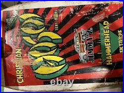 Vintage 1987 Christian Hosoi Hammerhead Skateboard Complete
