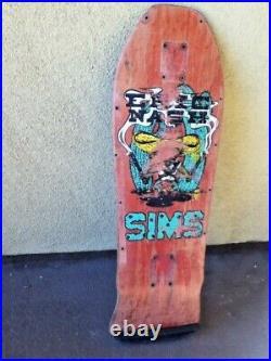 Vintage 1987 Sims Eric Nash skateboard deck natural OG old-school 1980s natural