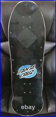 Vintage 1988 1980s Santa Cruz Blacktop Roskopp Face Skateboard Deck Red Stain