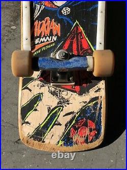 Vintage 1988 Adrian Demain Lester Kasai Rare Skateboard Tracker Trucks