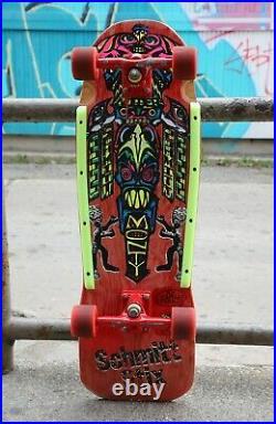 Vintage 1988 Schmitt Stix Monty Nolder Totem skateboard with Rat-Bones & Gullwing