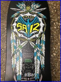 Vintage 1989 Powell Peralta Skateboard Deck Saiz Feathers Totem NOS Black