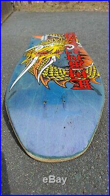 Vintage 1989 Powell & Peralta Steve Caballero Ban This Skateboard Deck