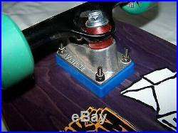 Vintage 1990 Vision Skateboard New Blood Mike Crum Pro Model Purple Milk Carton