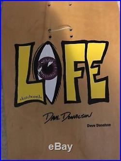 Vintage 1991 Life Skateboards Dave Donalson Pro Model NOS Natural H-Street