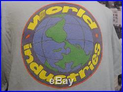 Vintage 1995 WORLD INDUSTRIES T Shirt Planet Earth Logo XL HOLY GRAIL Skateboard
