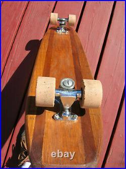 Vintage 30 hobie super surfer sidewalk surfboard skateboard 1960s 5 stringer