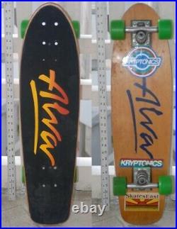 Vintage 70's Alva skateboard, Tracker trucks, Kryp 65's