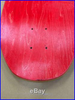 Vintage 80's NOS Santa Cruz Claus Grabke Melting Clocks skateboard deck
