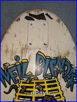 Vintage 80s G&S Neil Blender skateboard deck og Powell Santa Cruz Sims Vision