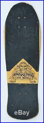 Vintage 80s Skateboard Deck Airbourne, Bob Reeves