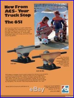 Vintage ACS 430 Skateboard Trucks for Hobie, G&S, Sims, Logan, Banzai, and Bahne