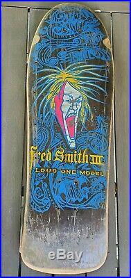 Vintage Alva Fred Smith Loud One III Skateboard Deck Original