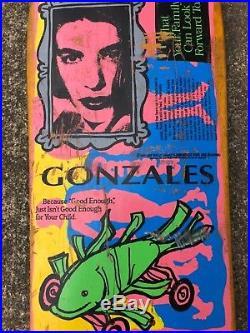 Vintage Blind Mark Gonzales Fish Car Skateboard Deck 1990 Gonz OG Rare