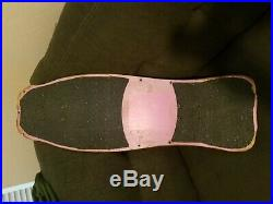 Vintage Christian Hosoi Original Hammerhead Skateboard Deck Pink