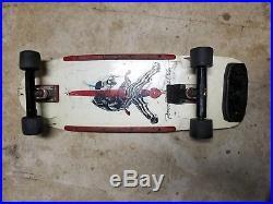 Vintage Complete Powell Peralta Sword & Skull Skateboard 1970s