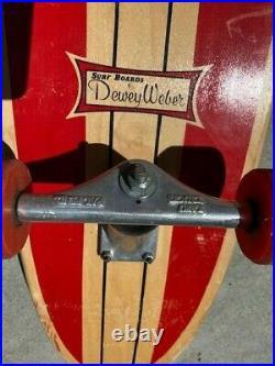 Vintage Dewey Weber Skateboard with Kapu Trucks and wheels
