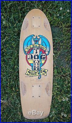 Vintage Dog Town Skates Jim Muir Red Dog Design skateboard 1978 Alva sims