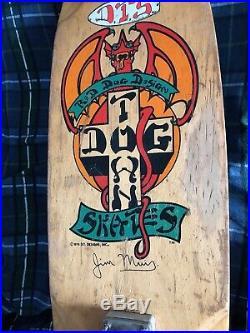Vintage Dog Town skateboard 1978 Jim Muir model Tracker Kryptonics Wes Humpston