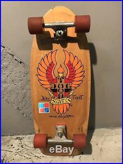 Vintage Dogtown Wes Humpston Bigfoot skateboard deck Original 70s Rare Complete