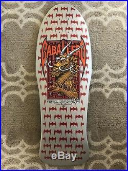 Vintage Full Size Powell Peralta Caballero Dragon Silver Vintage Skateboard Deck