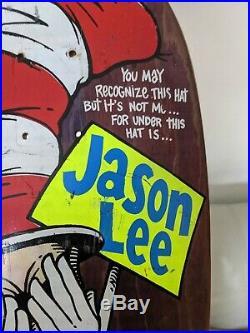 Vintage Jason Lee Cat In The Hat Blind Skateboard Deck