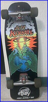 Vintage Jeff Kendall skateboard by Santa Cruz OG 1986 (END OF THE WORLD)