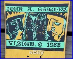 Vintage John A. Grigley Mini 2 Vision 1988 OG Skateboard 1987 Skate Deck Board