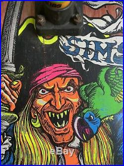 Vintage Kevin Staab Skateboard (Sims, 1987, Pirate Rat Bones, Gullwing)