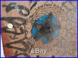 Vintage Lester Kasai Designs Tracker Skateboard deck