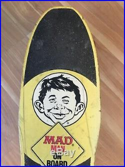 Vintage Mad Magazine Skateboard MADE IN USA What Me Worry
