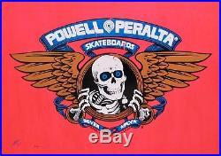 Vintage NOS 1989 Powell Peralta Steve Saiz Totem Pole Skateboard Deck Neon Red
