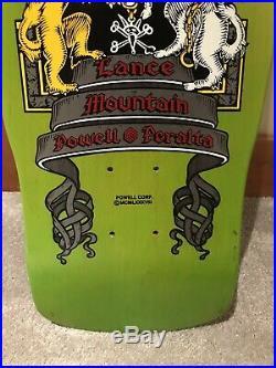 Vintage NOS Lance Mountain Crest Skateboard Deck Rare Lime Green Powell Peralta