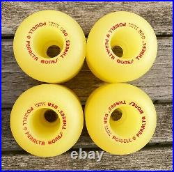 Vintage NOS Powell Peralta Bones Three's 85A Skateboard Wheels