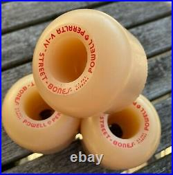 Vintage NOS Powell Peralta V -IV Street Bones 85A Skateboard Wheels