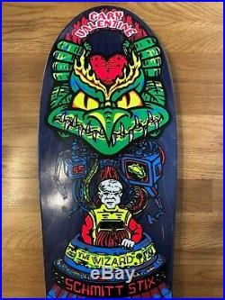 Vintage NOS Schmitt Stix Gary Valentine The Wizard Skateboard Deck 80s OG Rare