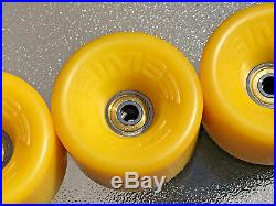 Vintage NOS Sims Comp II Skateboard Wheels withSims Gold Racing Bearings Bowman