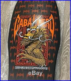 Vintage NOS Steve Caballero Black Dip Powell Peralta Skateboard Deck