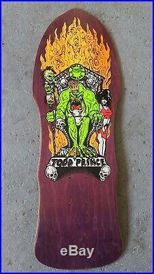 Vintage NOS Todd Prince ZORLAC OG Skateboard Purple 1980's Natas Hosoi Alva