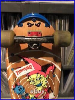 Vintage OG John Lucero Jester Madrid skateboard complete / Santa Cruz grosso