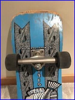 Vintage OG Mike McGill Trigger Fish skateboard powell peralta with cross bones