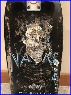 Vintage OG Natas Kaupas Face Skateboard Deck extremely rare / sma Santa Cruz