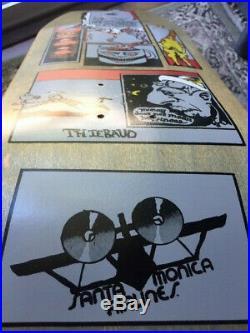 Vintage OG Skateboard Santa Monica Airlines Jim ThibaudNatas, Santa cruz Powell