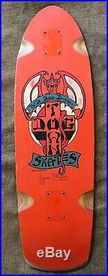 Vintage Orange 1978 Dogtown Jim Muir Skateboard