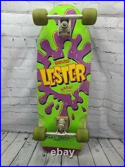 Vintage Original 1983 SIMS Lester Kasai Pro Model Complete Skateboard