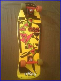 Vintage Original 1985 G&S Gordon and Smith Jim Gray complete skateboard